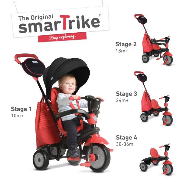 SMART TRIKE SWING 4 IN 1 ROSSO - Smart Trike - Toys Center - SMART TRIKE - Bici, Tricicli e Cavalcabili a pedali