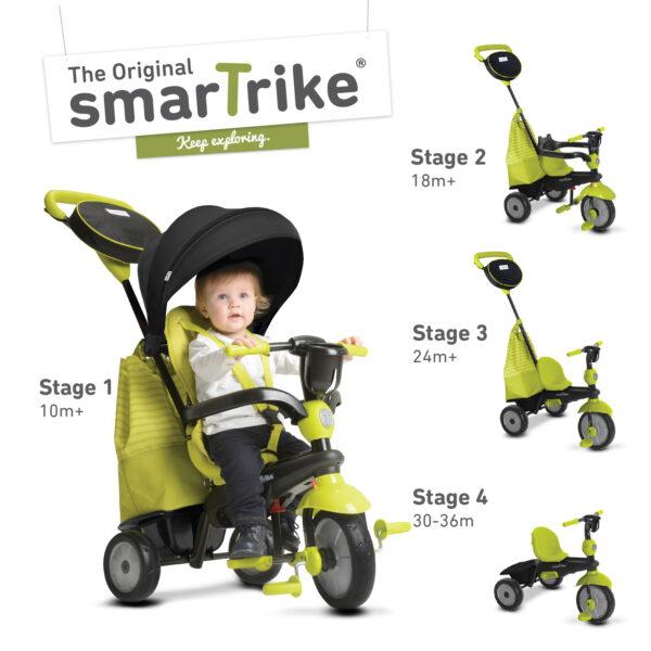 SMART TRIKE SWING 4 IN 1 VERDE - SMART TRIKE - Marche SMART TRIKE Unisex 0-12 Mesi, 12-36 Mesi, 3-5 Anni ALTRI