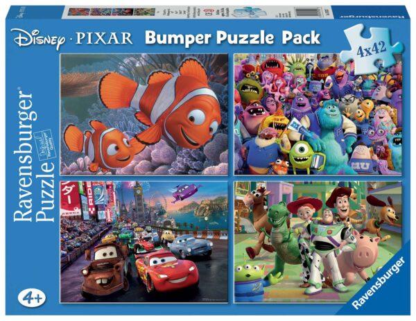 Disney Pixar - Puzzle 4x42 pezzi Ravensburger - DISNEY - PIXAR - Linee DISNEY - PIXAR Unisex 12+ Anni, 8-12 Anni WALT DISNEY CLASSICI