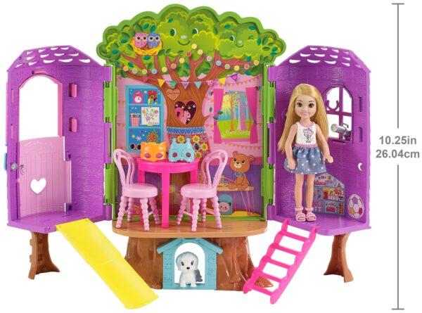 Barbie - La Casa sull'Albero di Chelsea, con Chelsea inclusa, due piani e tanti accessori - FPF83 - Barbie - Fashion dolls