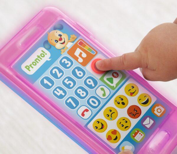 FISHER-PRICE ALTRI Fisher Price- Smartphone Lascia Un Messaggio, Giocattolo Elettronico Ridi Impara 18-36 Mesi Unisex 12-36 Mesi