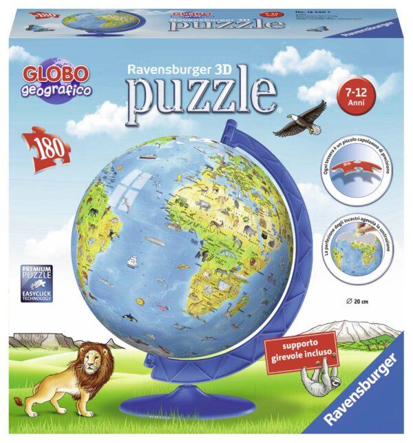 3D Puzzleball - Globo geografico ALTRO Unisex 12+ Anni, 5-8 Anni, 8-12 Anni ALTRI