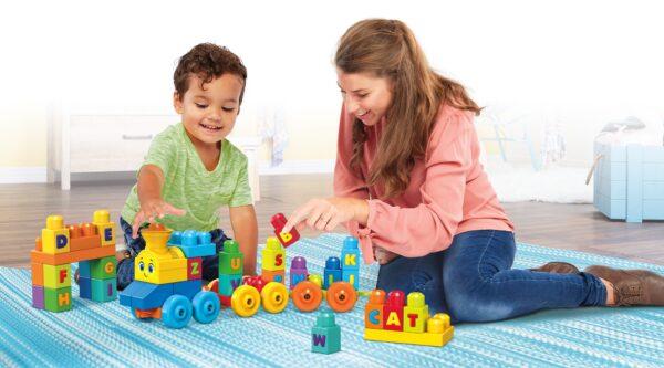 Mega first Builders - Impara con il treno! 0-12 Mesi, 12-36 Mesi, 12+ Anni, 8-12 Anni Maschio MEGA BLOKS ALTRI