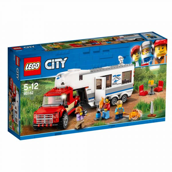 60182 - Pickup e Caravan - Lego City - Toys Center LEGO CITY Maschio 12+ Anni, 3-5 Anni, 5-8 Anni, 8-12 Anni ALTRI