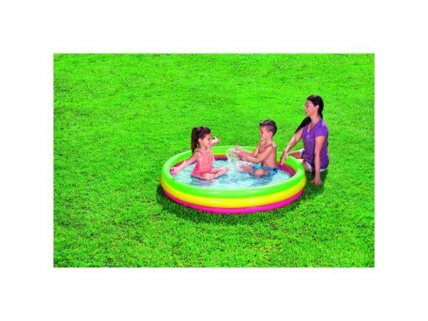 BESTWAY PISCINA SUMMER A  3 ANELLI COLOR CON FONDO GONFIABILE 152X30 CM Unisex 3-4 Anni, 5-7 Anni ALTRI ALTRO