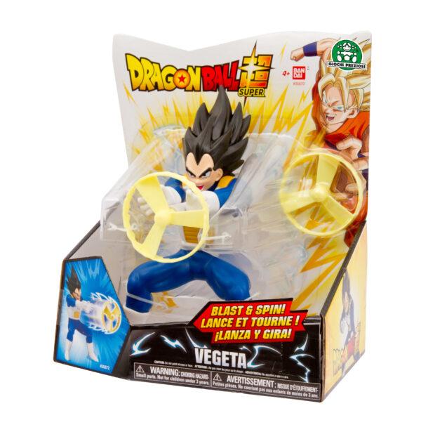 Dragon Ball Super, Personaggio 18 cm deluxe con funzione, Vegeta DRAGONBALL Maschio 3-5 Anni, 8-12 Anni ALTRO