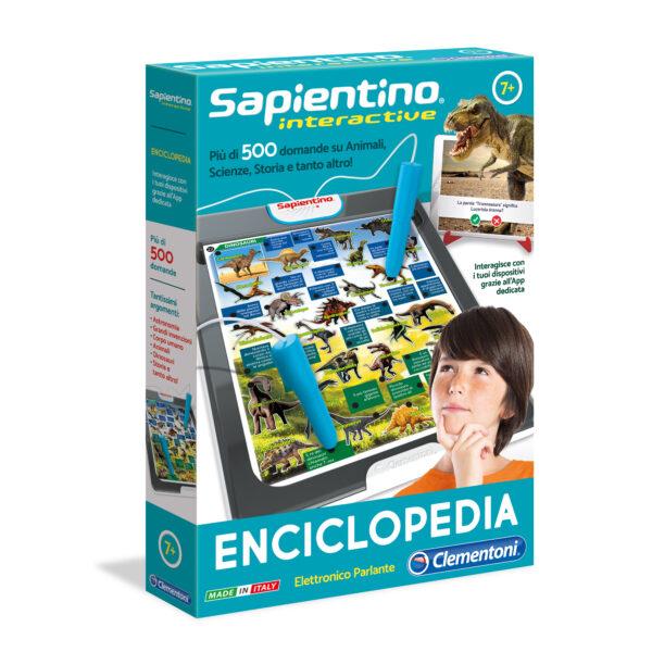Clementoni - 11999 - SAPIENTINO INTERACTIVE - ENCICLOPEDIA ALTRO Unisex 12+ Anni, 5-8 Anni, 8-12 Anni ALTRI