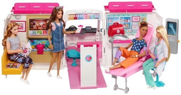 Barbie - Ambulanza Barbie Femmina 12-36 Mesi, 12+ Anni, 8-12 Anni ALTRI