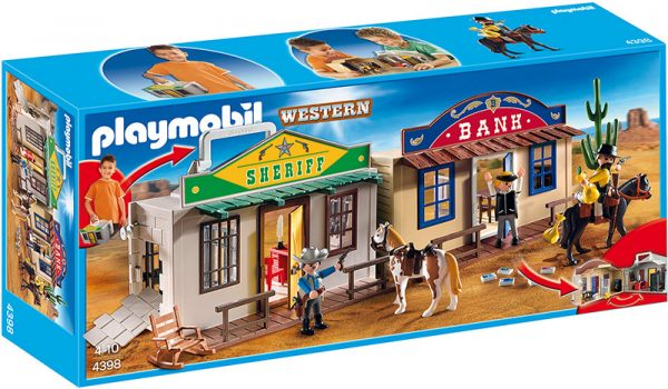 VILLAGGIO WESTERN PORTATILE - Playmobil - Western - Toys Center PLAYMOBIL - WESTERN Maschio 3-5 Anni, 5-8 Anni ALTRI