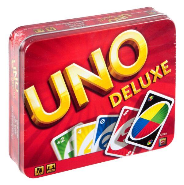 mattel-UNO-K0888-UNO DELUXE - Uno - Toys Center UNO Unisex 12+ Anni, 5-7 Anni, 5-8 Anni, 8-12 Anni ALTRI