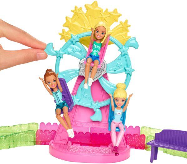 ALTRI Barbie Femmina 12+ Anni, 3-5 Anni, 5-8 Anni, 8-12 Anni Barbie parti e vai - Parti e Vai Luna Park, bambola e pony inclusi e pezzi componibili - FHV70
