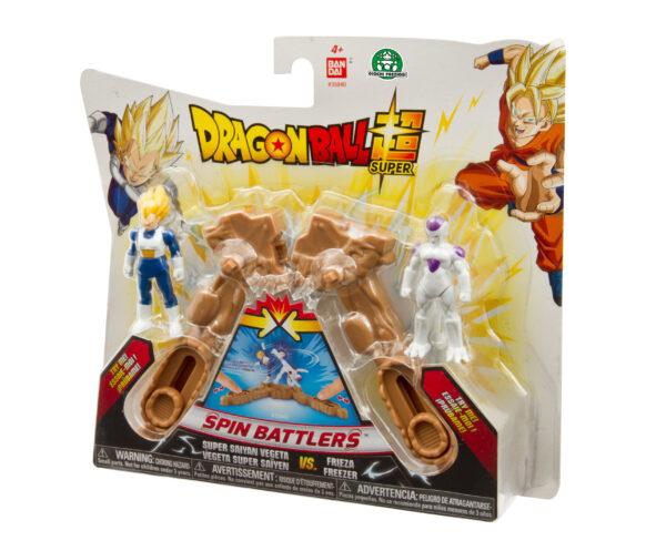 Dragon Ball Super Spin Battlers, 2 personaggi + 2 basi, Vegeta Super Sayan vs Freezer DRAGONBALL Maschio 3-5 Anni, 5-8 Anni, 8-12 Anni ALTRO