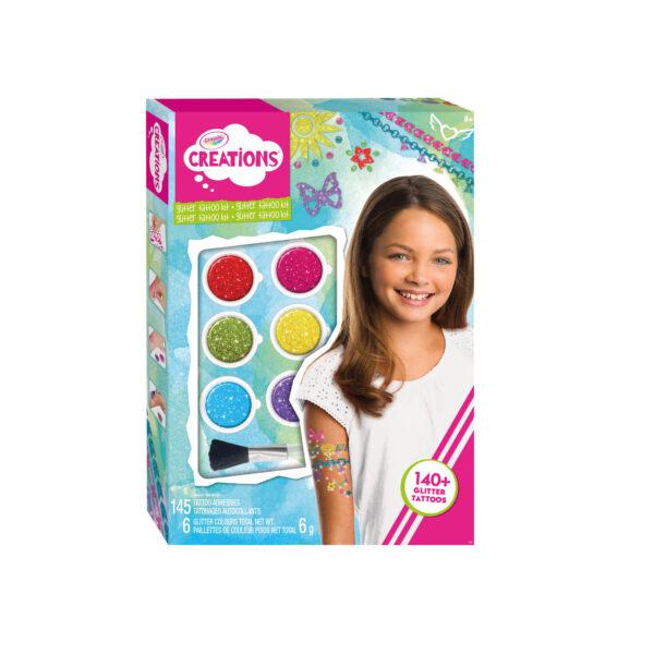 Tatuaggi Arcobaleno Crayola Creations ALTRO Femmina 12+ Anni, 5-8 Anni, 8-12 Anni ALTRI
