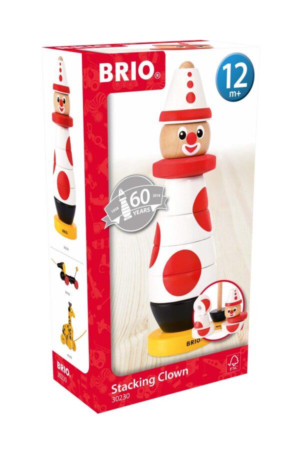 BRIO Clown da impilare - Brio Giochi Pedagogici - Toys Center - BRIO GIOCHI PEDAGOGICI - Giochi elettronici e bilingue