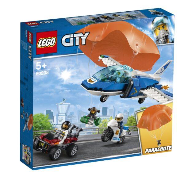 LEGO City Police - Arresto con il paracadute della Polizia aerea - Lego City Police - 60208 LEGO CITY POLICE Unisex 12+ Anni, 3-5 Anni, 5-8 Anni, 8-12 Anni ALTRI