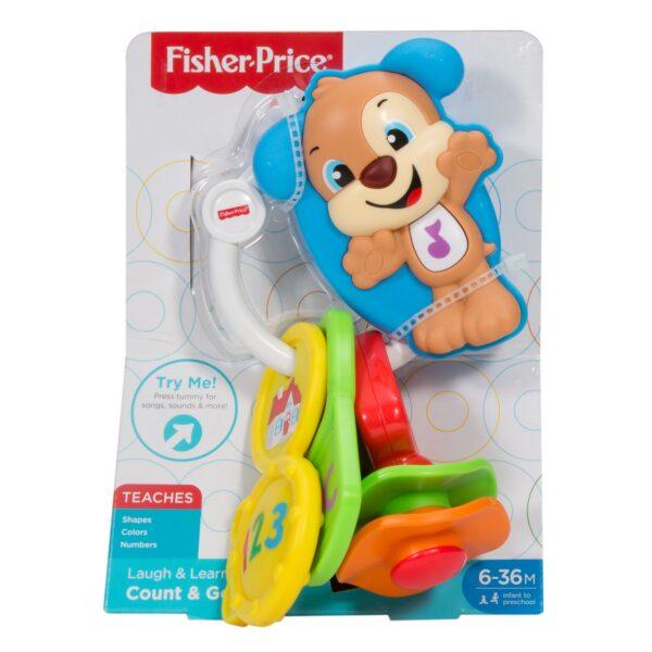 Fisher Price- Chiavi Conta e Vai-Dentaruolo Giocattolo Elettronico Ridi Impara 6-36 Mesi 0-12 Mesi, 12-36 Mesi Unisex FISHER-PRICE ALTRI