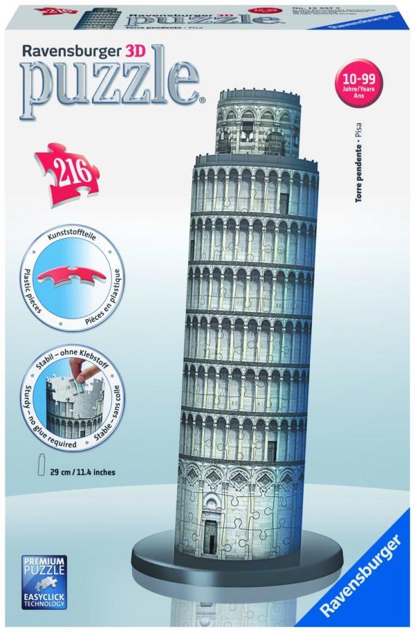 Puzzle 3D Torre di Pisa - Ravensburger Puzzle 3d - Toys Center - RAVENSBURGER PUZZLE 3D - Puzzle 3D