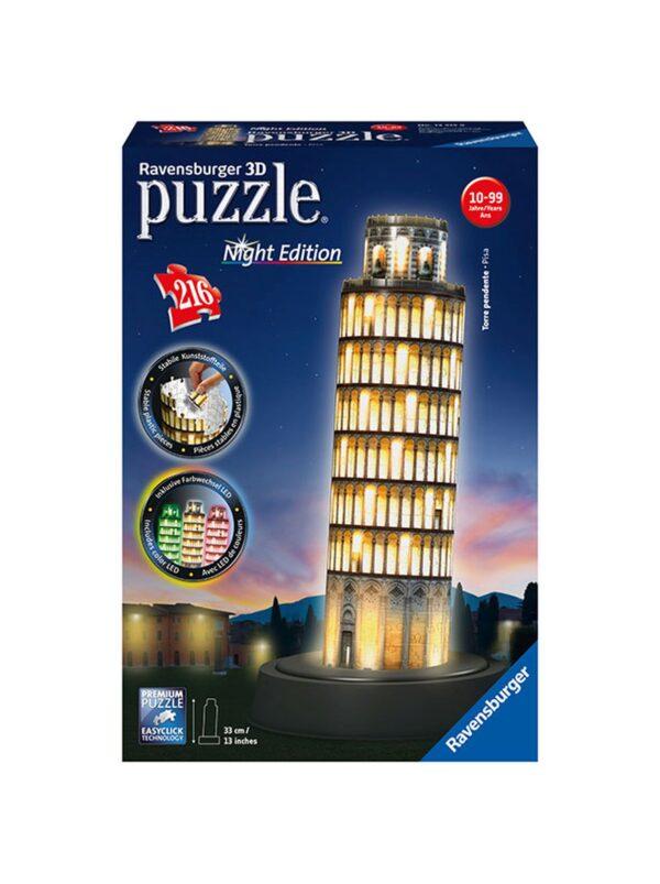 3D Puzzle Building Night Edition - Torre di Pisa ALTRO Unisex 12+ Anni, 8-12 Anni ALTRI