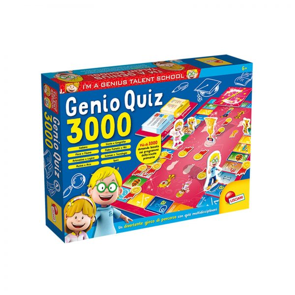 LISCIANI - I'm a genius super quiz 3000 I'M A GENIUS Unisex 3-5 Anni, 5-7 Anni, 5-8 Anni, 8-12 Anni ALTRI