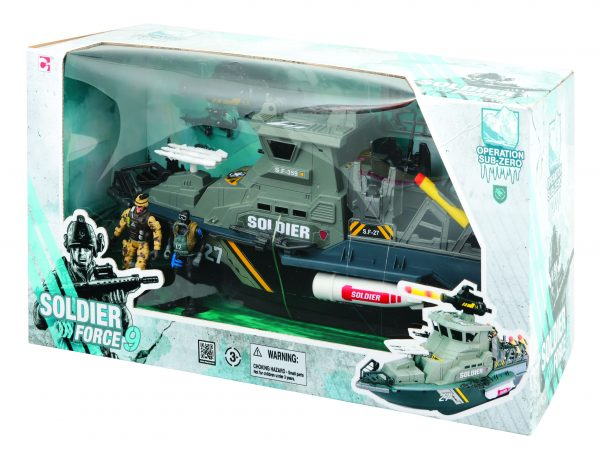 NAVE LANCIAMISSILI SOLDIER FORCE9 Maschio 12-36 Mesi, 12+ Anni, 8-12 Anni TOYS CENTER