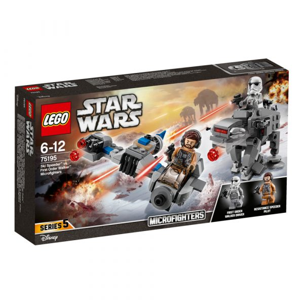 75195 - Ski Speeder™ contro Microfighter First Order Walker™ - Disney - Toys Center Disney Maschio 12+ Anni, 5-8 Anni, 8-12 Anni Star Wars