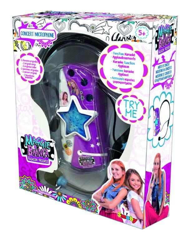 Maggie e Bianca - Microfono + auricolare - Smoby - Toys Center SMOBY Femmina 12+ Anni, 8-12 Anni Maggie & Bianca