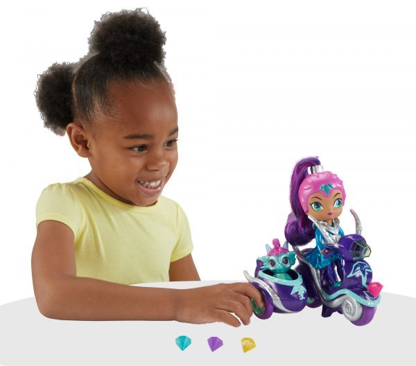 Shimmer & Shine - Scooter di Zeta, grande bambola di Zeta con scooter e Nazboo 3+ anni - FHN31 - ALTRO - Fashion dolls