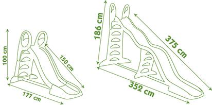 ALTRI Scivolo Megagliss 2 in 1 - Altro - Toys Center ALTRO 12-36 Mesi, 3-4 Anni, 3-5 Anni, 5-7 Anni, 5-8 Anni Unisex