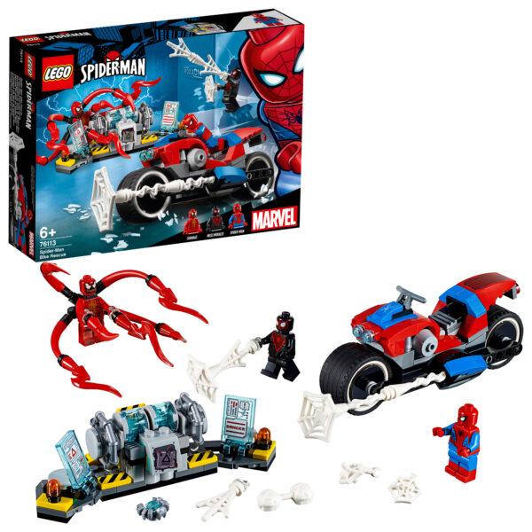 76113 - Salvataggio sulla moto di Spider-Man - Lego Super Heroes - Toys Center LEGO SUPER HEROES Unisex 12+ Anni, 5-8 Anni, 8-12 Anni ALTRI