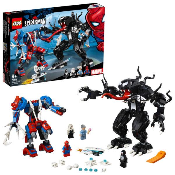 76115 - Mech di Spider-Man vs. Venom - Lego Super Heroes - Toys Center LEGO SUPER HEROES Unisex 12+ Anni, 5-8 Anni, 8-12 Anni ALTRI