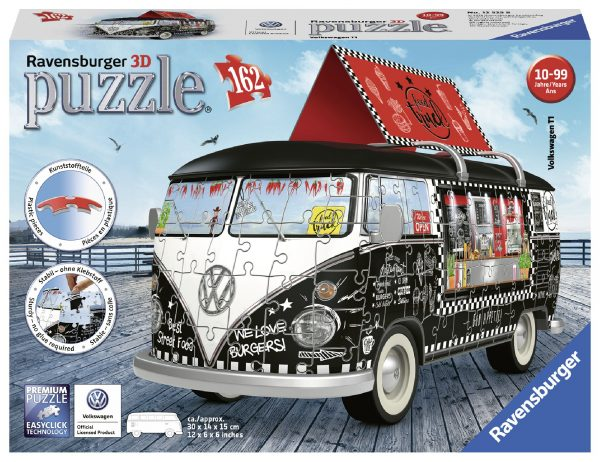 Pullmino Food Truck - Puzzle 3D Veicoli Ravensburger RAVENSBURGER PUZZLE 3D Unisex 12+ Anni, 8-12 Anni ALTRI