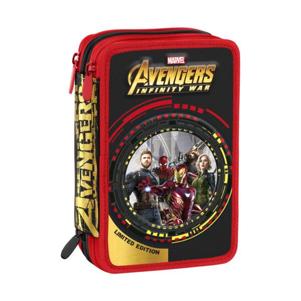 ASTUCCIO 3 ZIP AVENGERS - Marvel - Toys Center Avengers Maschio 5-8 Anni, 8-12 Anni Marvel