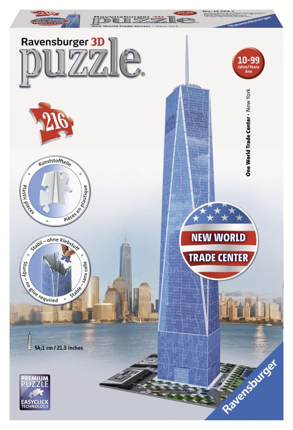 3D Building Freedom Tower - Ravensburger Puzzle 3d - Toys Center RAVENSBURGER PUZZLE 3D Unisex 12+ Anni, 8-12 Anni ALTRI