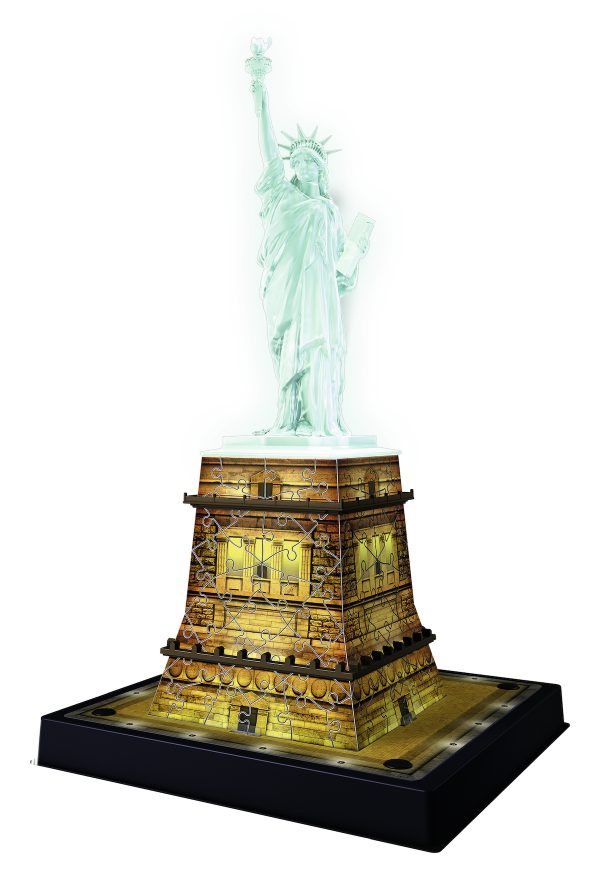 3D Building Statua della libertà Night Edition - Ravensburger Puzzle 3d - Toys Center - RAVENSBURGER PUZZLE 3D - Fino al -20%