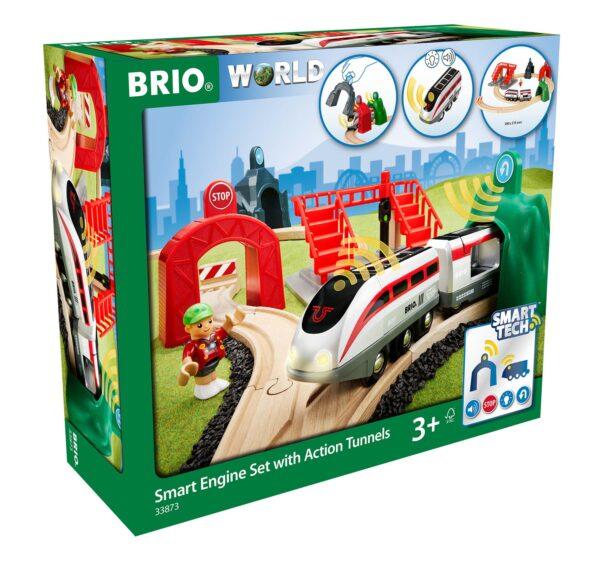 BRIO Smart Tech Set Locomotiva intelligente con tunnel - Brio Set Ferrovia - Toys Center ALTRI Unisex 12-36 Mesi, 3-5 Anni, 5-8 Anni, 8-12 Anni BRIO SET FERROVIA
