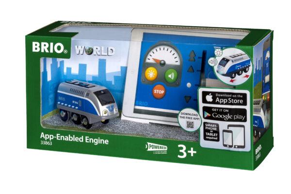 BRIO locomotiva a batterie telecomandata tramite app BRIO Unisex 12-36 Mesi, 3-4 Anni, 3-5 Anni, 5-7 Anni, 5-8 Anni ALTRI