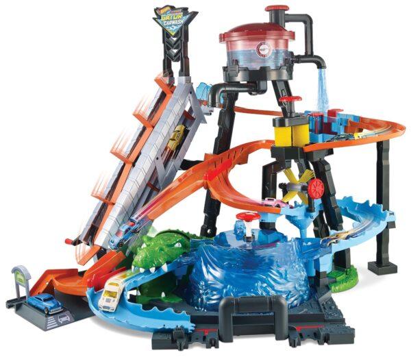 Hot Wheels - Mega Autolavaggio, Playset Per Macchinine Con Pista e Veicolo Cambiacolore, Giocattolo Per Bambini 5 + Anni Hot Wheels Maschio 8-12 Anni ALTRI