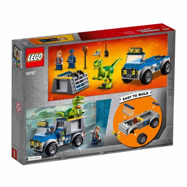 10757 - Camion per il soccorso di Velociraptor - Lego Juniors - Toys Center JURASSIC WORLD Unisex 3-5 Anni, 5-8 Anni LEGO JUNIORS