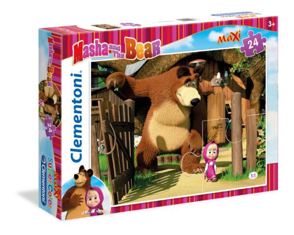 Maxi Puzzle 24 pezzi Masha e Orso CLEMENTONI - GIOCHI DA TAVOLO Unisex 12-36 Mesi, 3-5 Anni, 5-8 Anni Masha e Orso