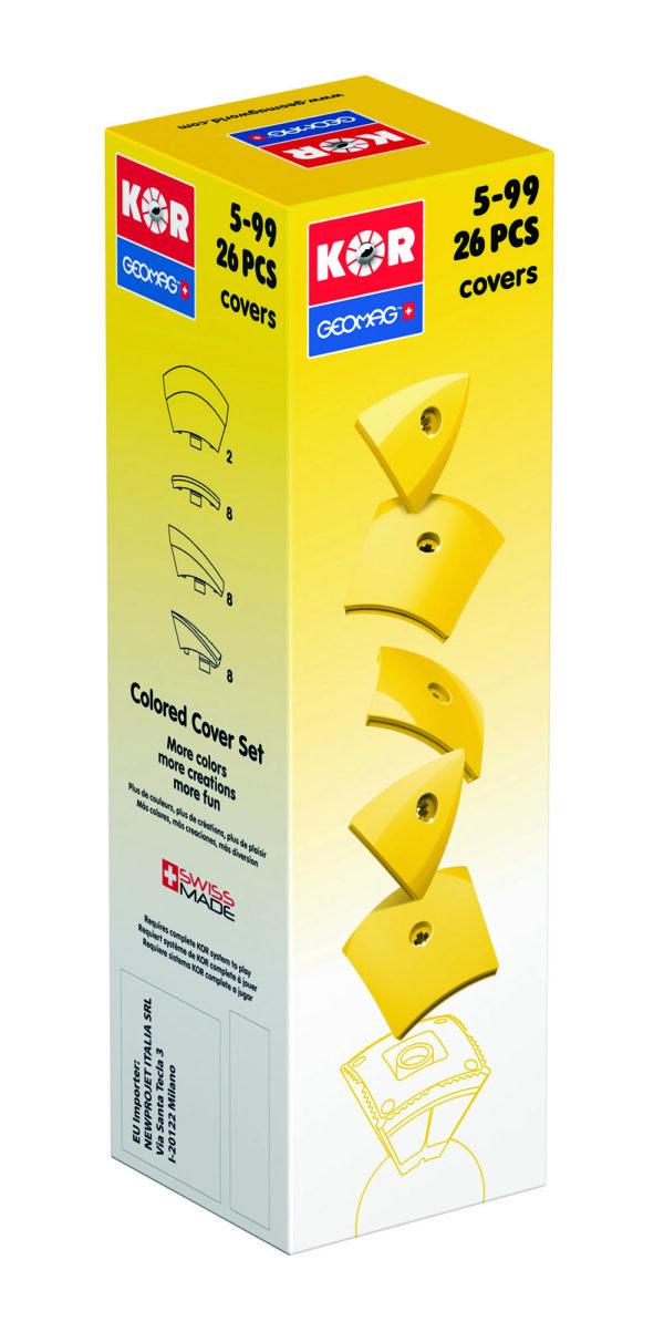 KOR Color Cover Yellow - GEOMAGWORLD - Marche ALTRI Unisex 3-5 Anni, 5-7 Anni, 5-8 Anni, 8-12 Anni KOR