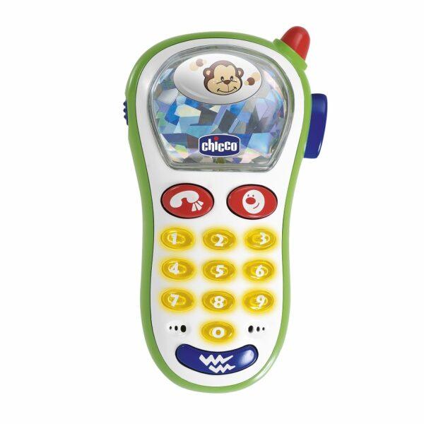 Telefonino Vibra & Scatta - Chicco - Toys Center Chicco Unisex 0-12 Mesi, 0-2 Anni, 12-36 Mesi, 3-4 Anni, 3-5 Anni ALTRI