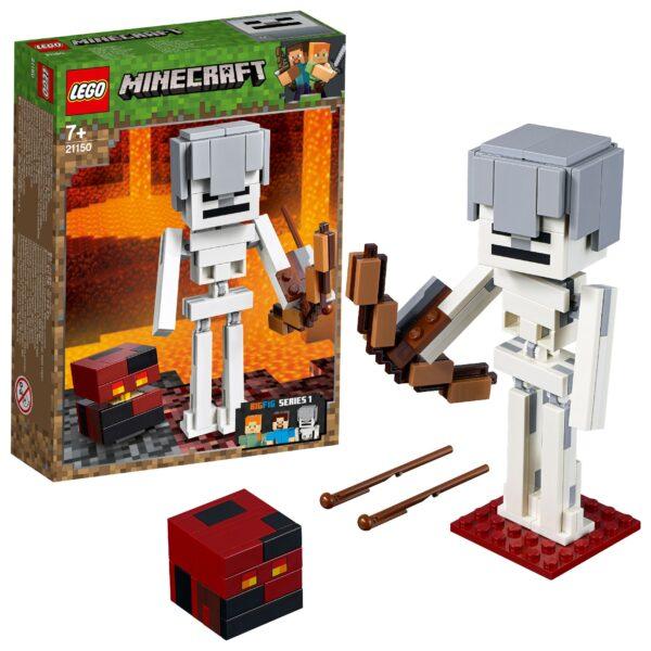 21150 - Maxi-figure Minecraft dello Scheletro con cubo di magma - Minecraft - Toys Center - MINECRAFT - Costruzioni