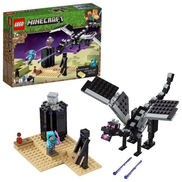 21151 - La battaglia dell'End - Minecraft - Toys Center MINECRAFT Unisex 12+ Anni, 5-8 Anni, 8-12 Anni ALTRI