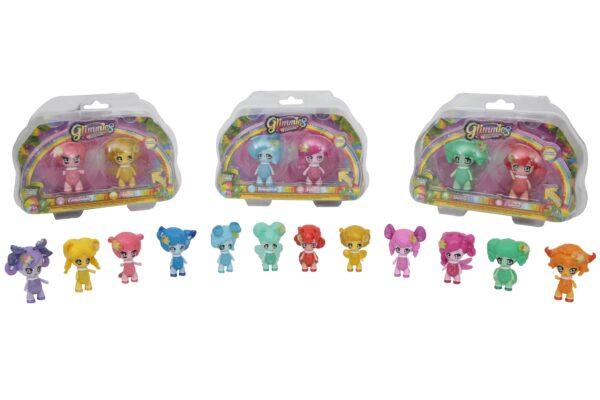 Glimmies Rainbow Friends Blister doppio, Flora & Mousy - GLIMMIES - Fino al -20%