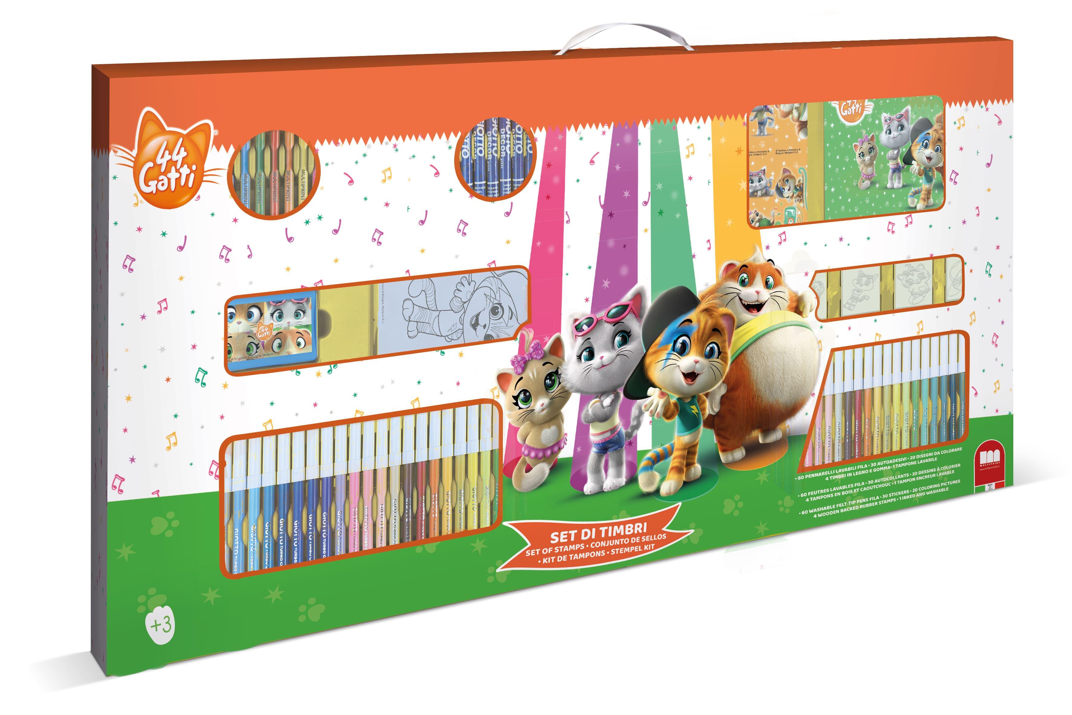 Mega Maxi Coloring Set 44 Gatti Toys Center