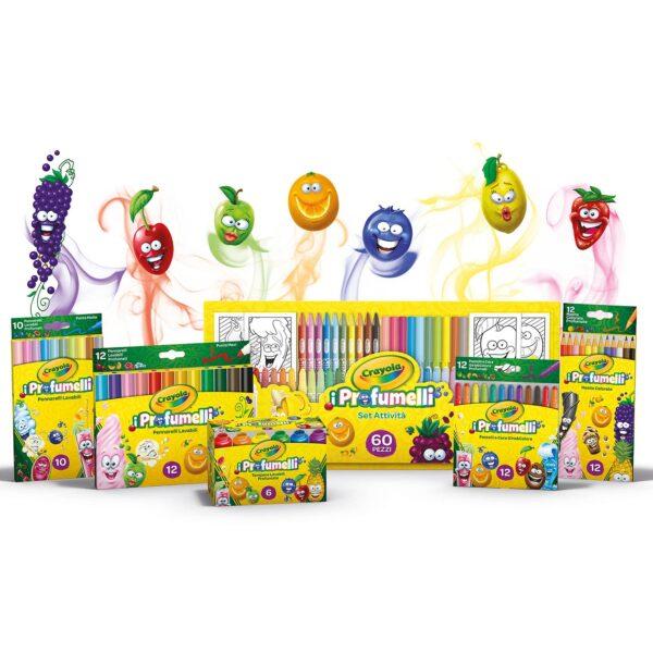 10 Pennarelli lavabili profumati punta media i Profumelli Crayola Unisex 12-36 Mesi, 12+ Anni, 3-5 Anni, 5-8 Anni, 8-12 Anni ALTRI ALTRO