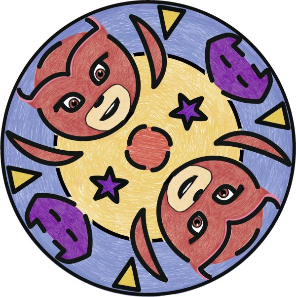 Junior Mandala Designer® PJ Masks - Gioco Creativo Ravensburger 29705 - Ravensburger Classic - Toys Center PJ Masks Unisex 12+ Anni, 3-5 Anni, 5-8 Anni, 8-12 Anni RAVENSBURGER CLASSIC