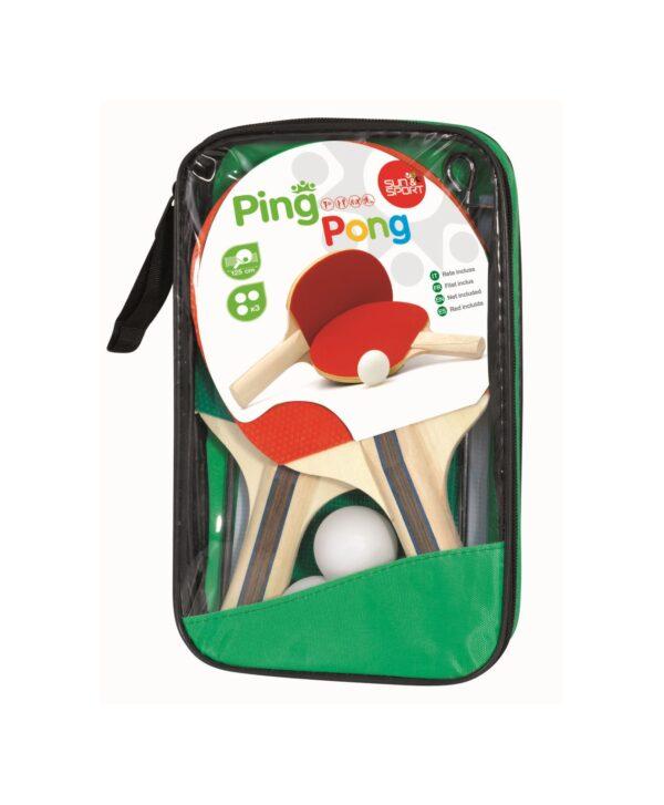 Set Ping Pong SUN&SPORT Unisex 3-4 Anni, 3-5 Anni, 5-7 Anni, 5-8 Anni, 8-12 Anni ALTRI