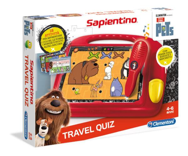 Sapientino Travel Quiz Pets SAPIENTINO Unisex 3-4 Anni, 5-7 Anni PETS