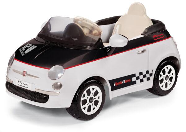 FIAT 500 BIANCA/NERA - PEG PEREGO - Marche - Peg Perego - Veicoli giocattolo a batteria